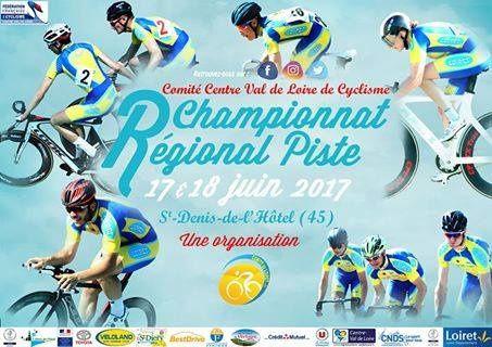 Championnat régionaux sur piste les 17 et 18 juin 2017 à St Denis de l'Hôtel (45)