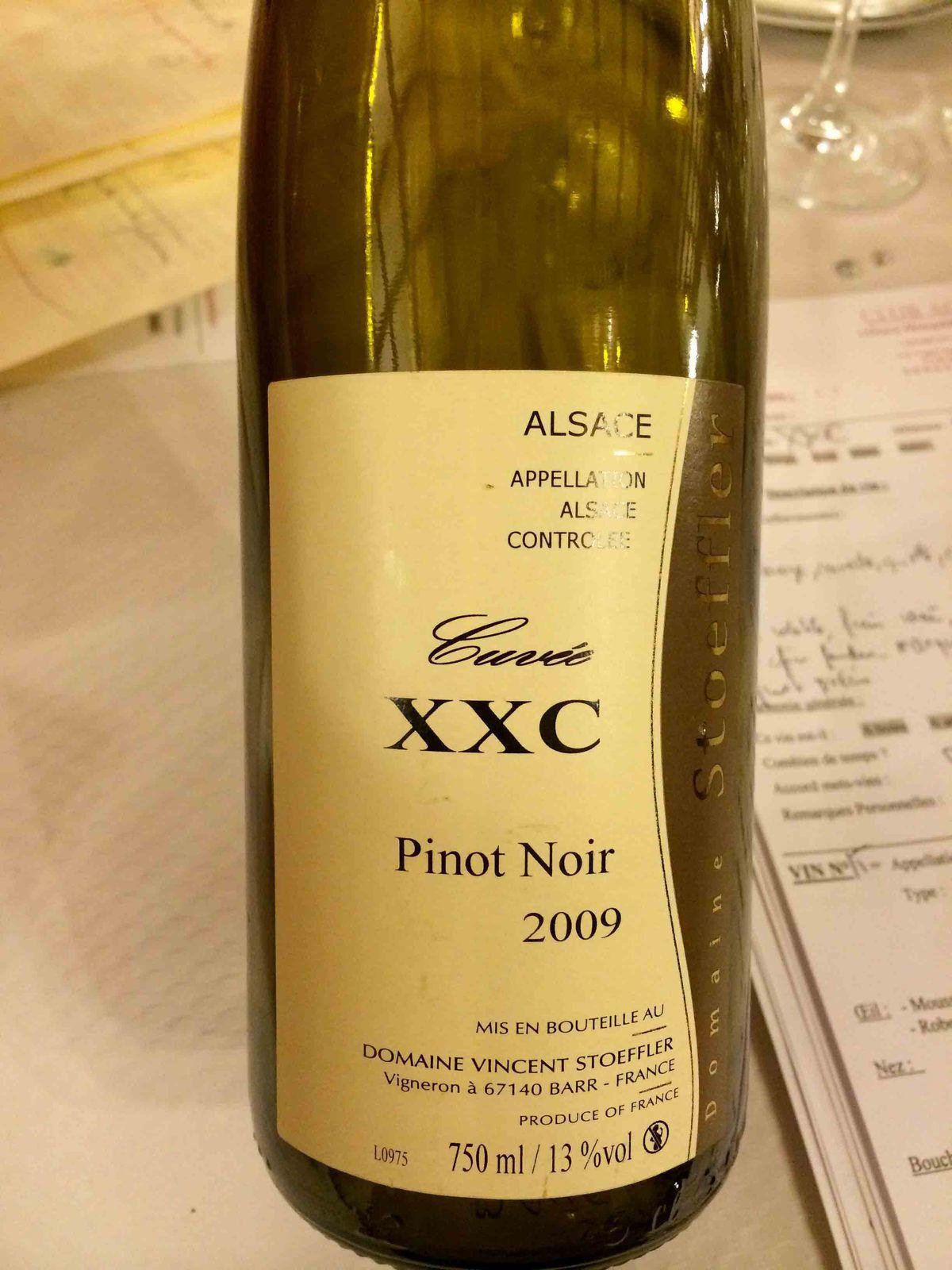 pinot noir cuvée XXC 2009 Domaine Vincent Stoeffler