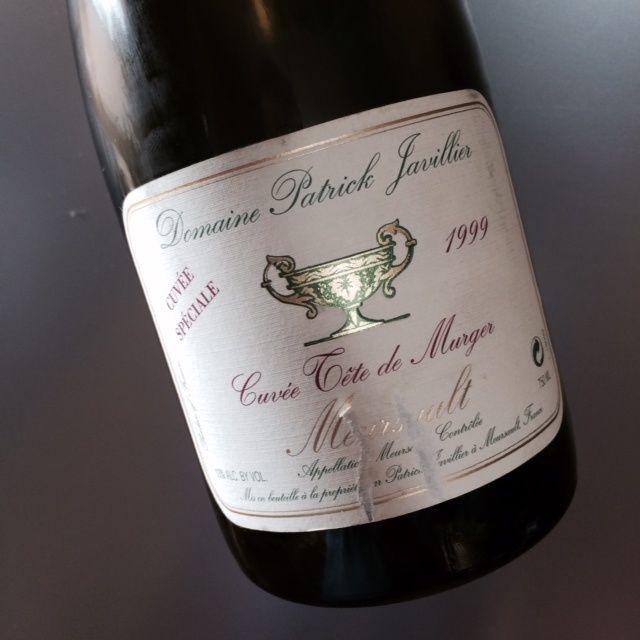 Meursault Cuvée Tête de Murger cuvée spéciale 1999 Domaine Patrick Javillier.