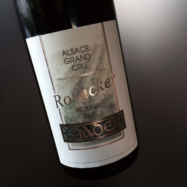 Grand cru Rosacker riesling 2005 Domaine Mader.