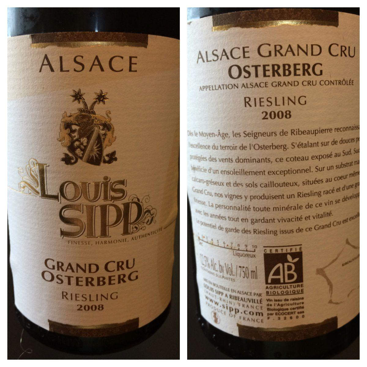 Riesling Osterberg 2008 Louis Sipp