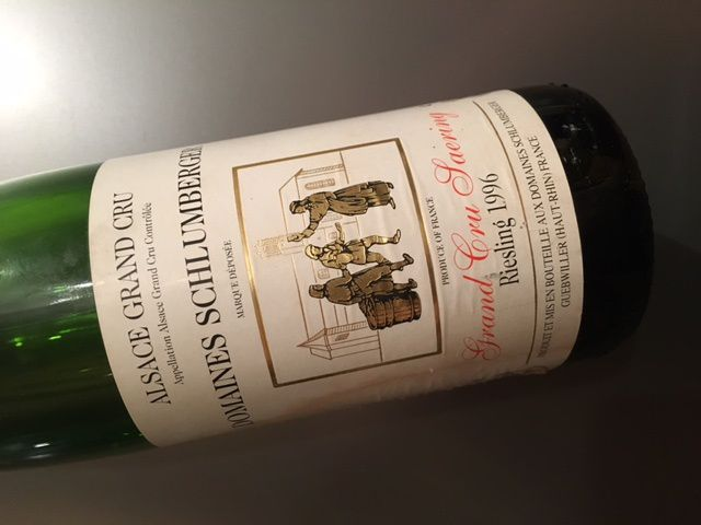 Alsace grand cru saering riesling 1996 Domaines Schlumberger