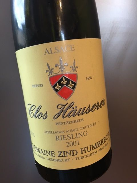 Riesling Clos Hauserer 2001 Domaine Zind-Humbrecht