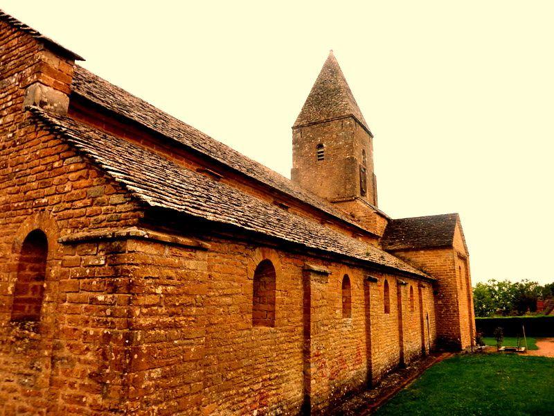 Brancion 2-Le haut du village-L'Eglise Saint-Pierre