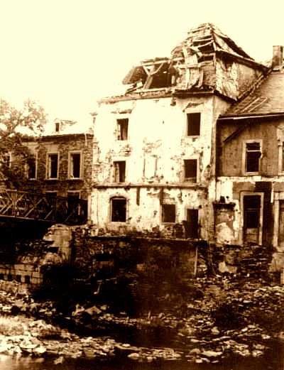 La maison de Victor Hugo rasée par les allemands en septembre 1944