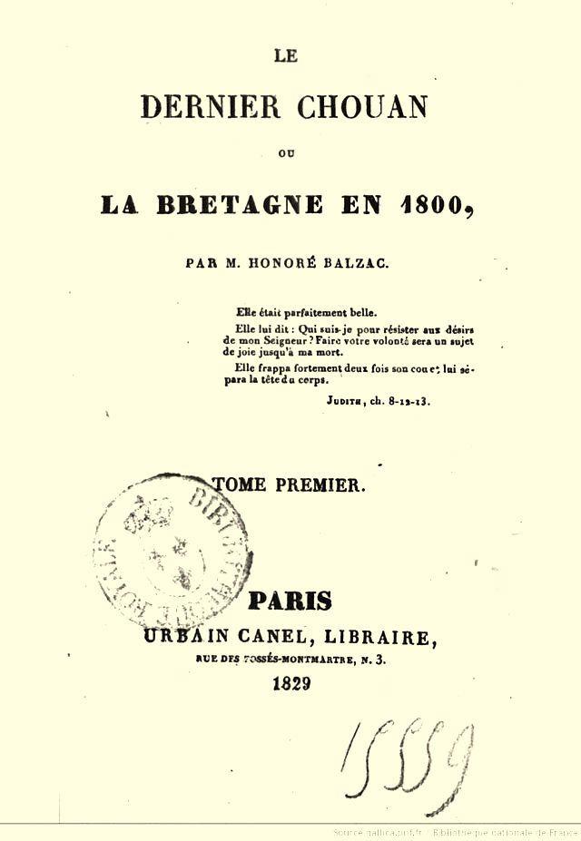 Honoré (de) BALZAC (1799-1850) - 1ère partie