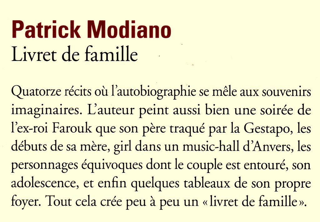 Patrick Modiano, l'écrivain de l'Incertitude