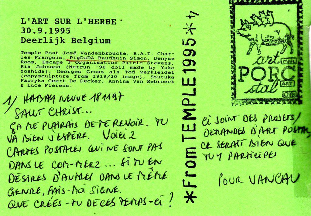Bio 251- Novembre-Décembre 1997-Extraits de mon journal