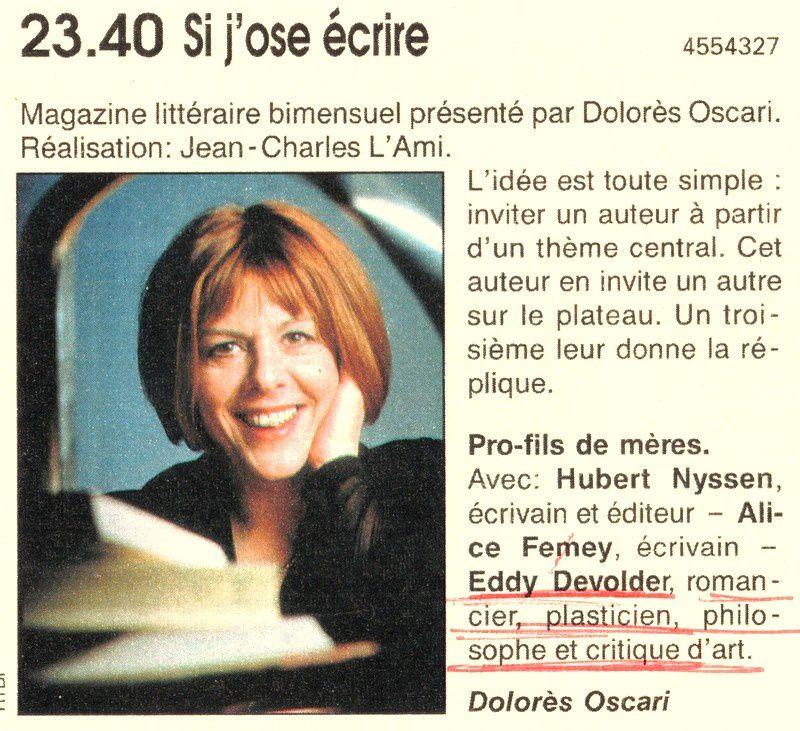 Bio 255- 4e Trimestre 1998- Extraits de mon journal