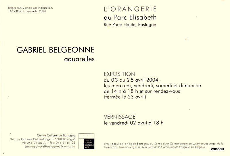Bio 295 - Avril 2004. Début des travaux de la Galerie