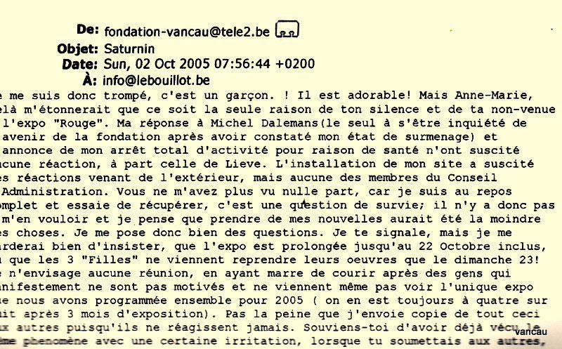 Bio 313 - Octobre 2005