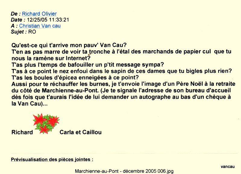 Bio 315- Décembre 2005 et résumé 2006    Fin de ma biographie