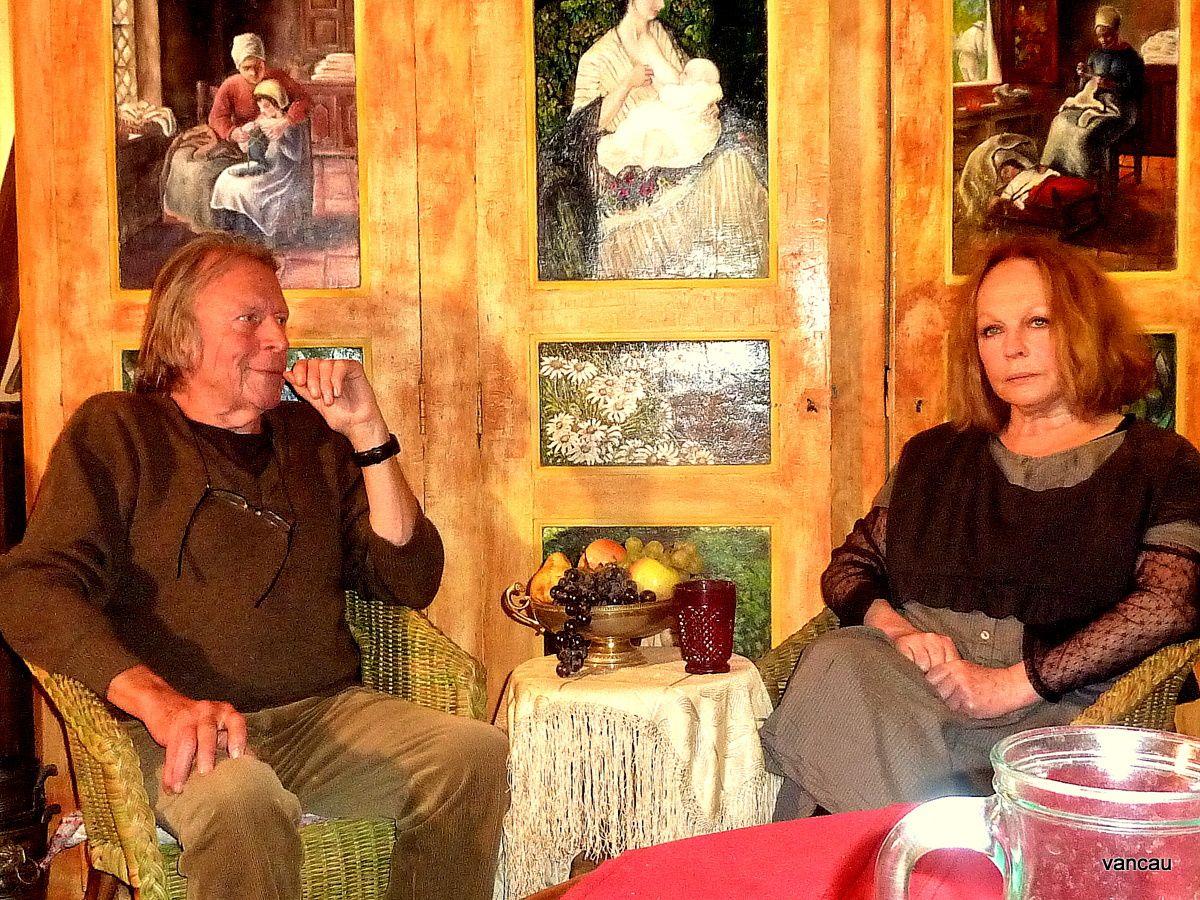 Christian Vancau interviewant Françoise Lefèvre ce 1er octobre 2012