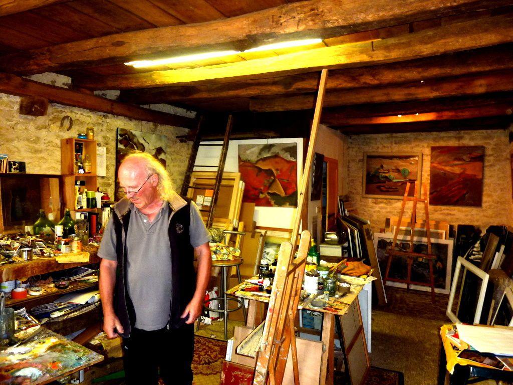 La maison et l'atelier de Christian Kubala à Commarin
