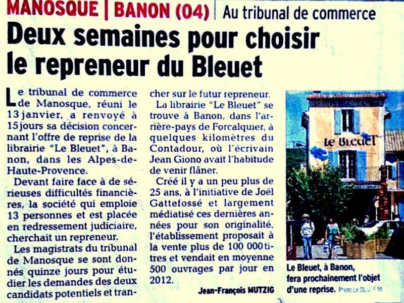 BANON et la Librairie Le BLEUET