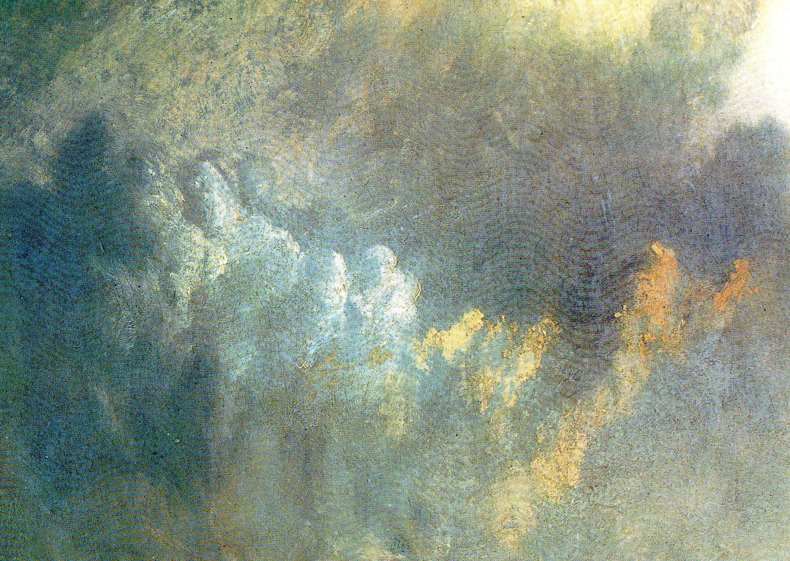 Mouth of the Seine at Quillebeuf (1833). Détail d'une œuvre de J.M.W.Turner reproduite dans Turner en France, Centre Culturel du Marais, 1981. Cat. 187 (p. 604).