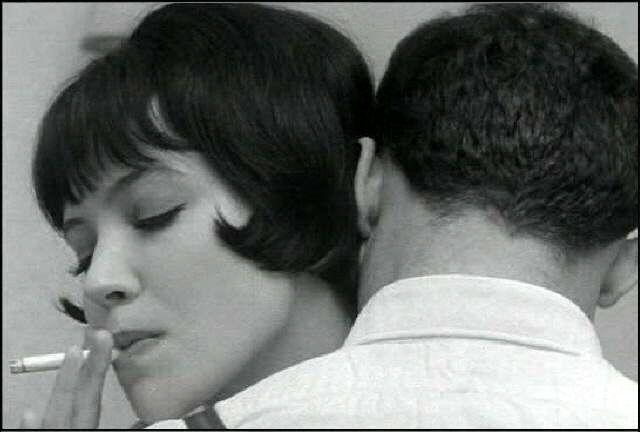 Vivre sa vie de J.L. Godard, avec A. Karina.