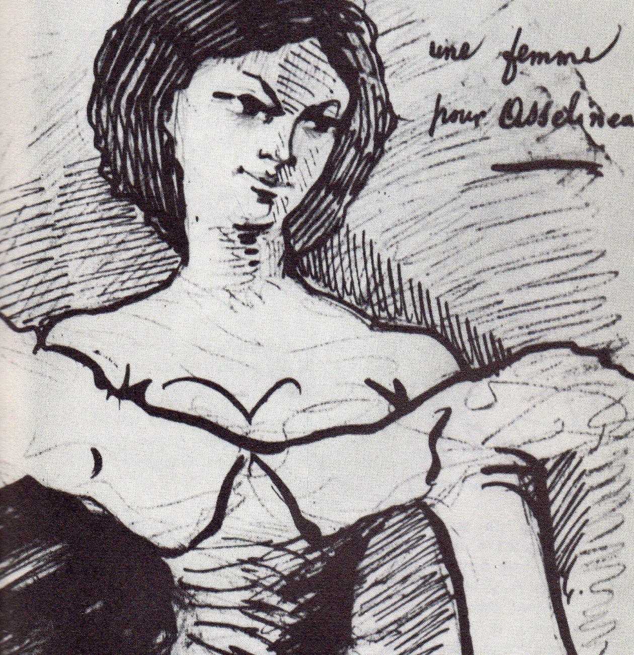 Dessin de Baudelaire dédié à Asselineau et reproduit page 37 du Baudelaire par lui-même, Seuil, 1952, présenté par Pascal Pia, ainsi que dans Charles Baudelaire, Seghers n° 31, 1963, par Luc Decaunes, page 111 &#x3B; et dessin de Baudelaire à l'encre de Chine et rehaussé de vermillon.  Ce dessin, dédié à Paul Chenavard a été reproduit page 34 du Baudelaire par lui-même, Seuil 1952, présenté par Pascal Pia.