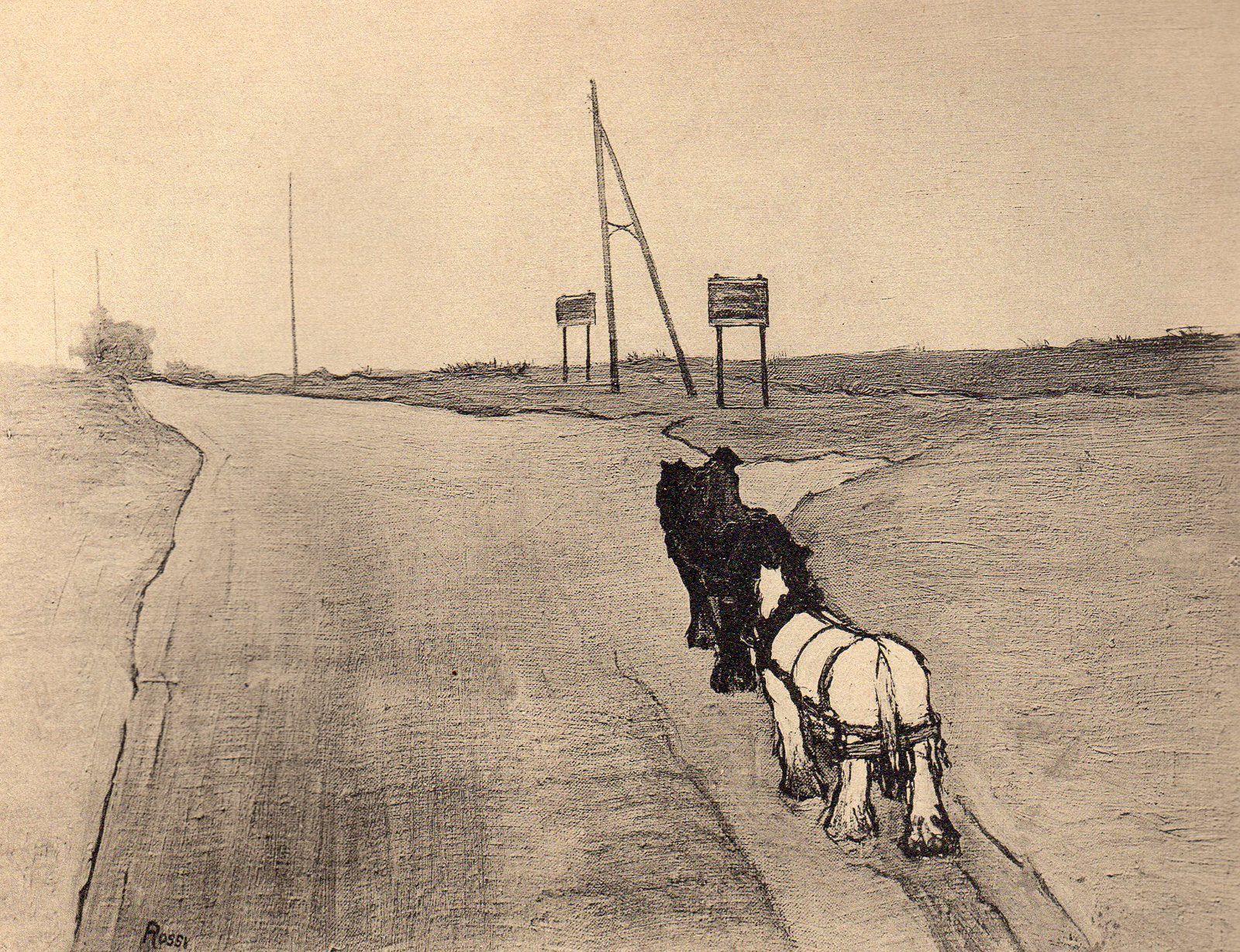 Joseph Rossi (Le Carrefour). Œuvre reproduite page 47 du livre de Jean-Paul Dubray intitulé Joseph Rossi sa vie son œuvre, éditions Marcel Seheur, 1932.