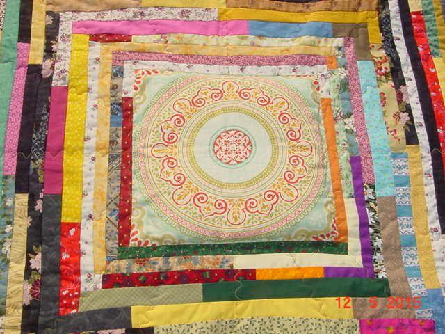 MANDALA monté en patchwork