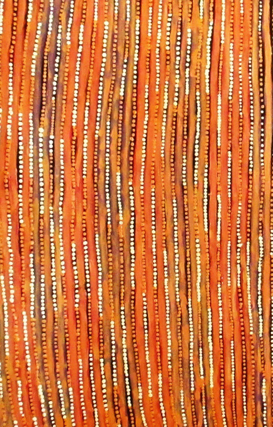 "Mavis Nampijinpa, epint exclusivement pour l'Art Center Papunya Tjupi. Ici ""sand dunes"""