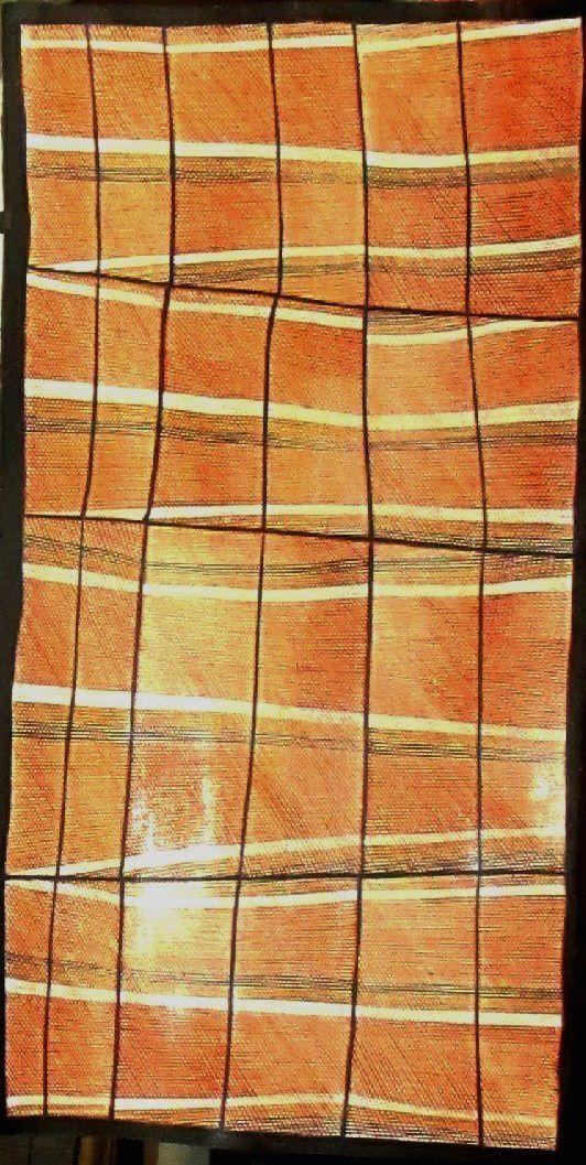Ocres naturelles sur écorce d'eucalyptus