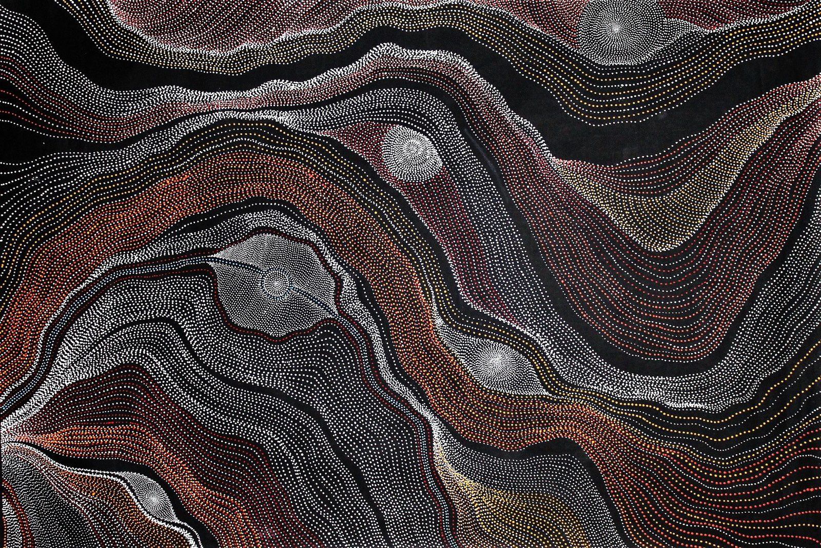 Anna Price Petyarre,  Ngurra (My country)		140x93