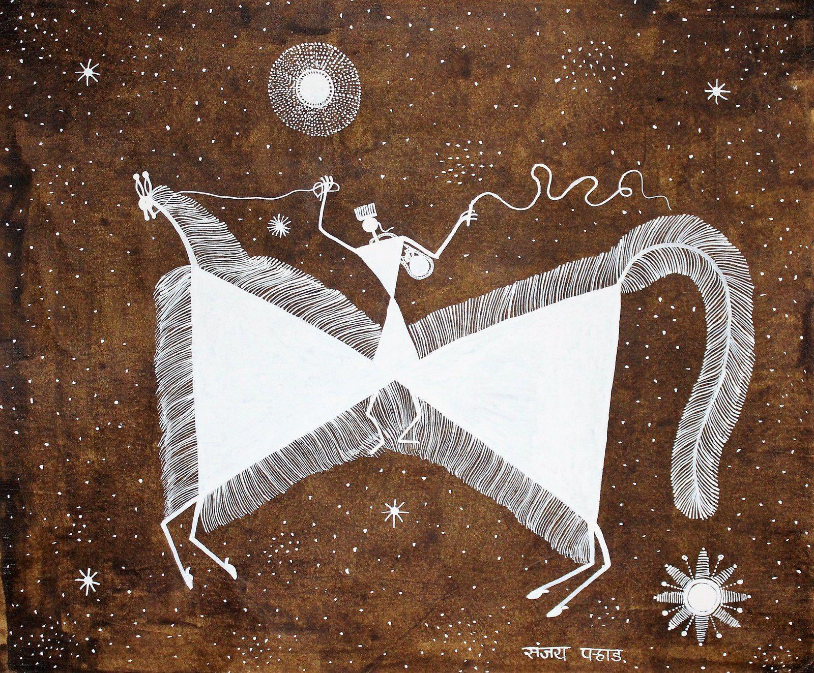 Ghodsawari dev, dieu des graines, Bouse, résine et acrylique
