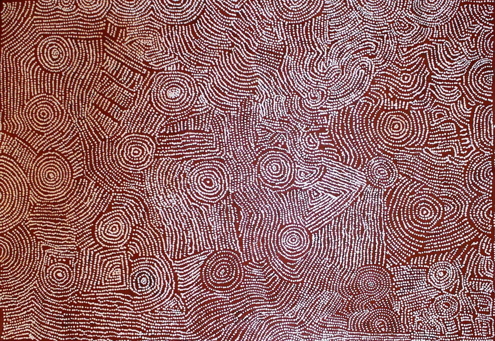 Maisie Campbell Napaljarri, Ngurra, my country. 125x180 cm, acrylique sur lin