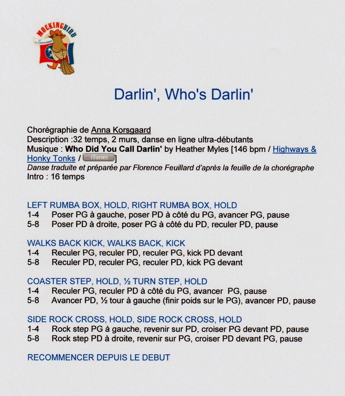 DARLIN', WHO'S DARLIN'