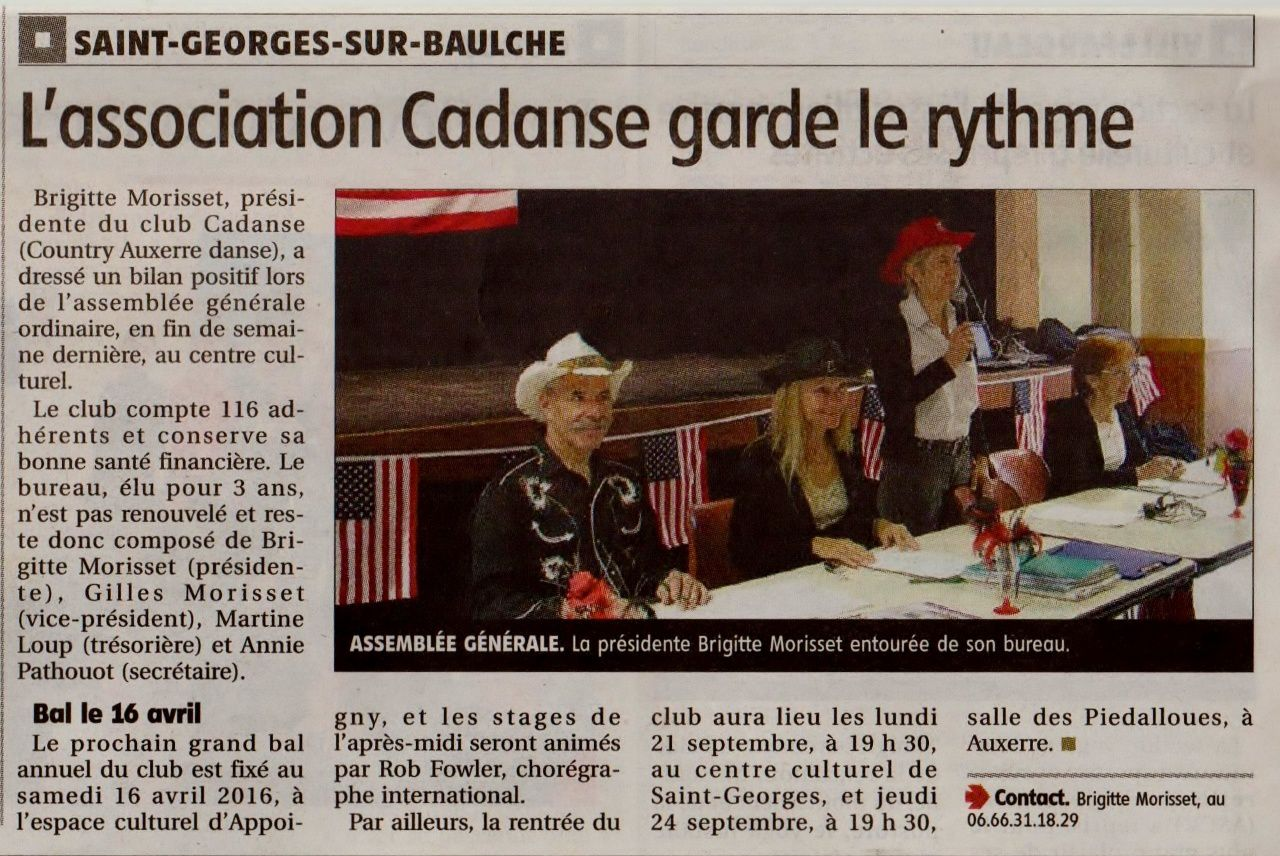 Article de l'Yonne Républicaine