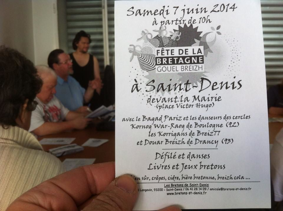 7 juin, programme de la fête de la Bretane à Saint-Denis.