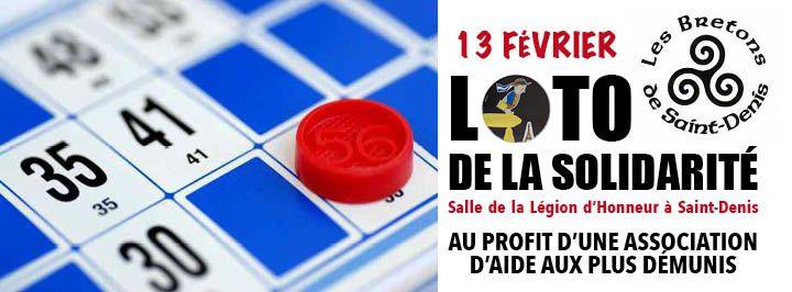APPEL AUX DONS pour le loto de la solidarité organisé par les Bretons de Saint-Denis