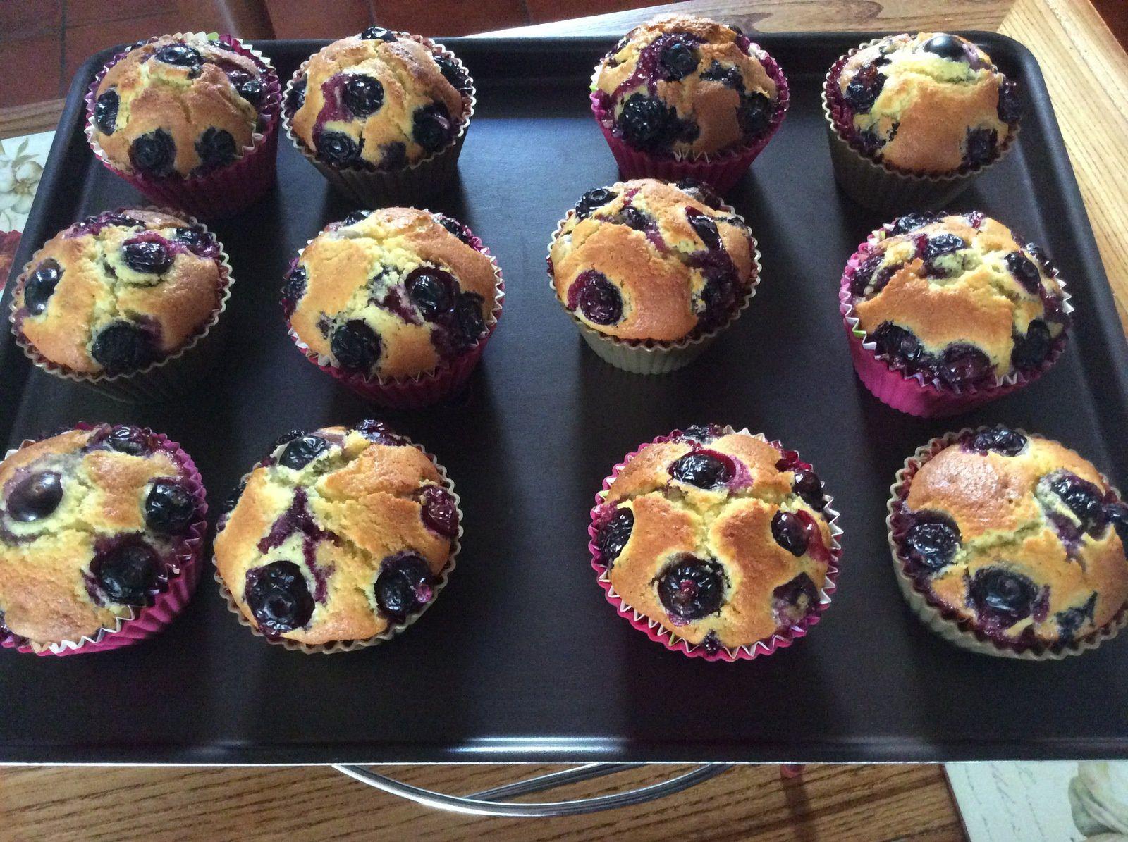 Les muffins aux myrtilles