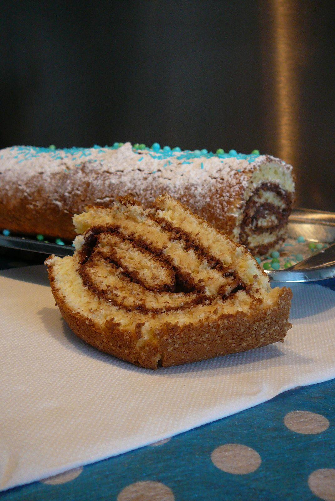 Gâteau roulé au Nutella