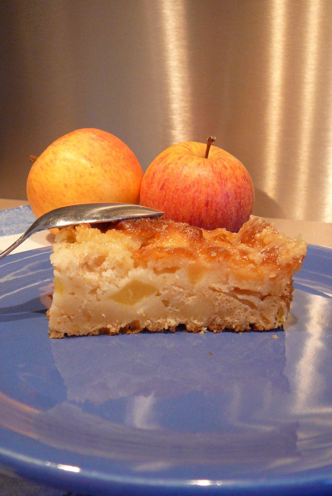 Moelleux aux pommes caramélisé