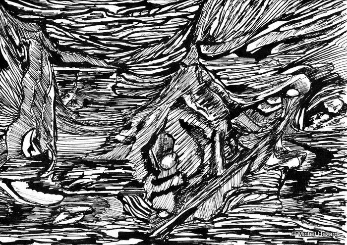x PEINTURE - Encres de Chine plume