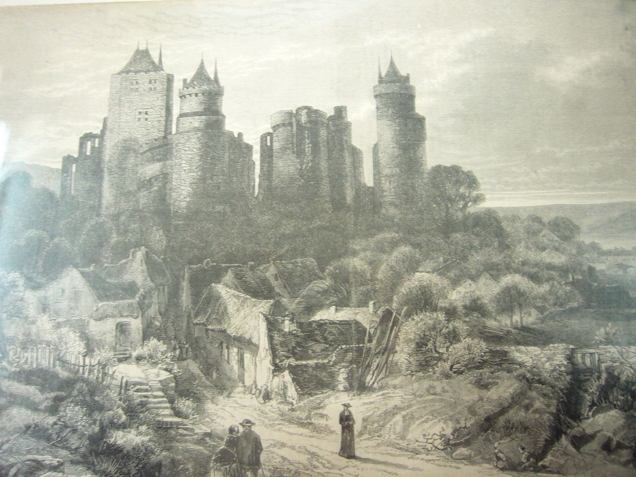 EAU-FORT DU CHATEAU DE PIERREFONDS DE 1850/1890