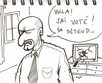 Drims vote TV cassée