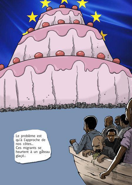 Immigration, gateau, migrants, mediterranée, mort, naufrage, europe, drims, afrique, colonisation, décolonisation, néo-colonisation, uranium, areva, françafrique,
