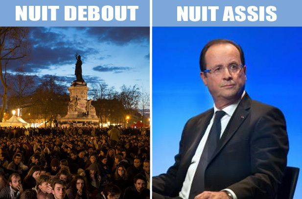 nuit debout, nuit assis, hollande