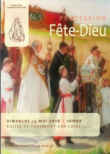 PROCESSION DU SAINT-SACREMENT  LE  29 MAI 2016