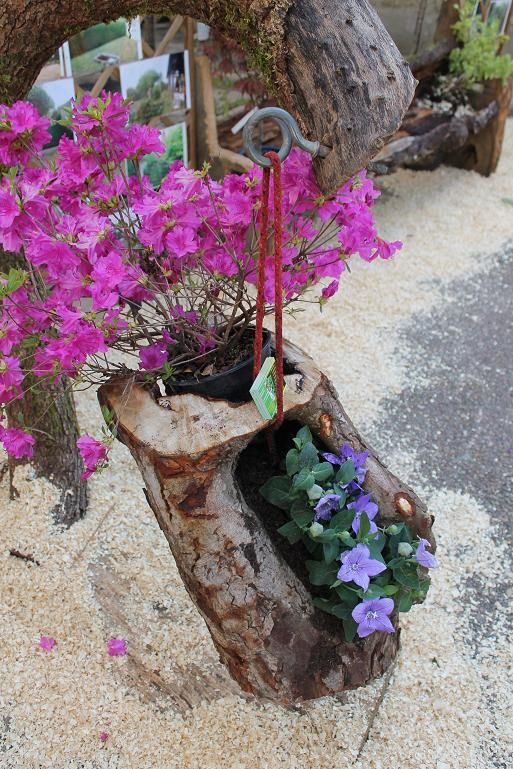 Recycler un tronc en accroche suspension