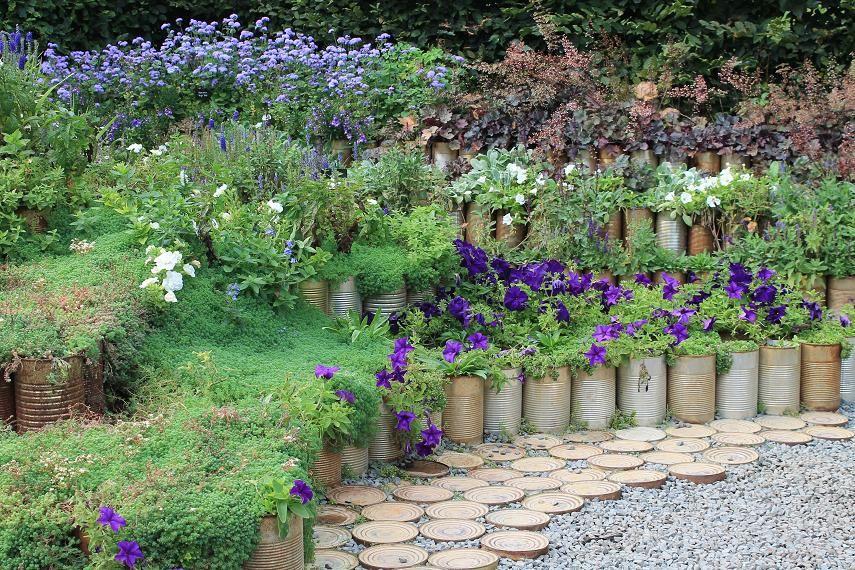 Réaliser un jardin dans des boîtes de conserve