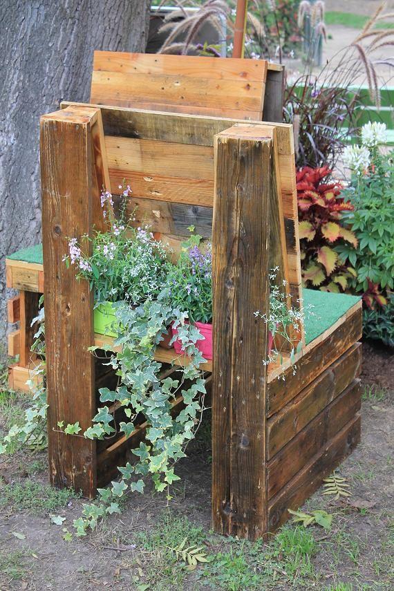 De jardin en palette de bois salon de jardin en palette de - Salon de jardin en palettes de bois ...
