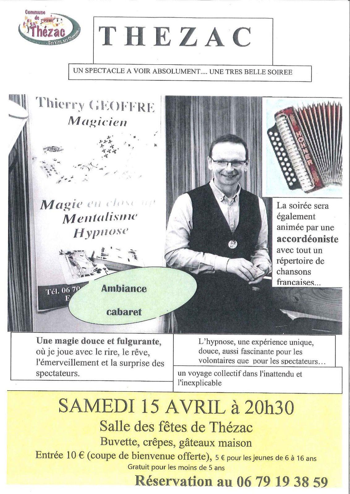 Thézac : Un spectacle magique à la salle des fêtes