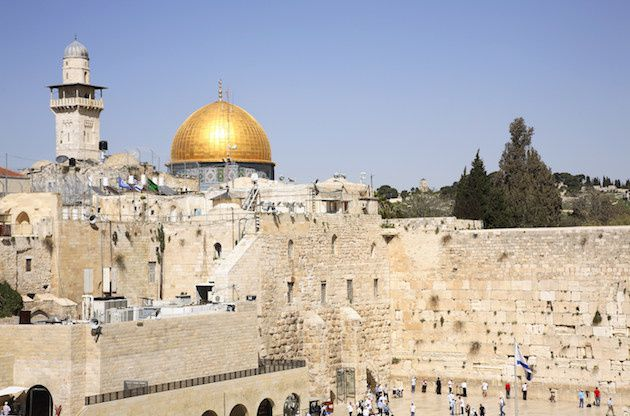 Wailing wall and dome of the rock Jerusalem (Image Source via AP Images)