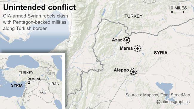 En Syrie, des milices armées par le Pentagone combattent celles armées par la CIA