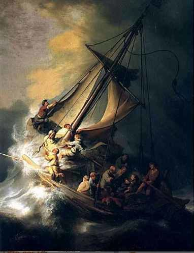 Symbole de la barque dans la tempête : le livre de vie dans le monde corrompu