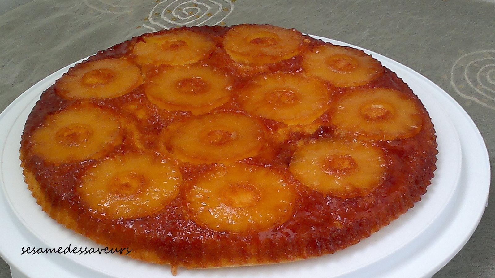Gateau sirop ananas